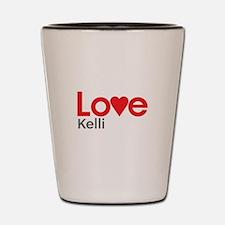 I Love Kelli Shot Glass