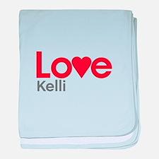 I Love Kelli baby blanket