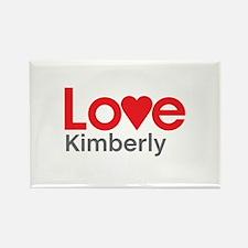 I Love Kimberly Rectangle Magnet