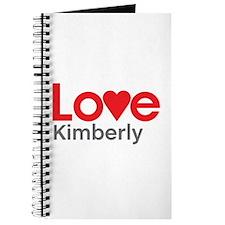 I Love Kimberly Journal