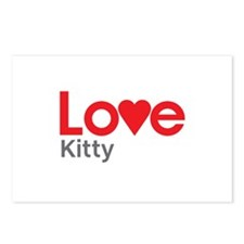 I Love Kitty Postcards (Package of 8)