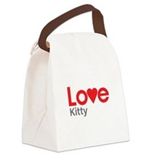 I Love Kitty Canvas Lunch Bag