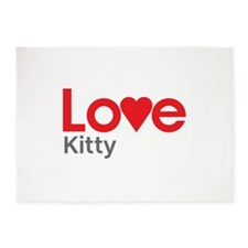 I Love Kitty 5'x7'Area Rug