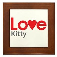I Love Kitty Framed Tile