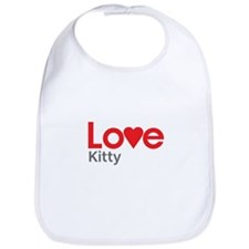 I Love Kitty Bib
