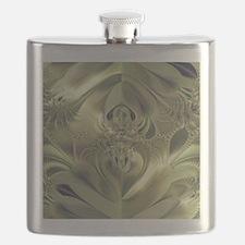 Metallic Leaves Flask