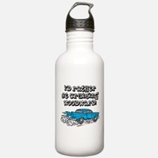 Id Rather Be Cruising Woodward Hotrod Water Bottle