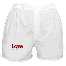 I Love Lara Boxer Shorts