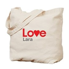 I Love Lara Tote Bag