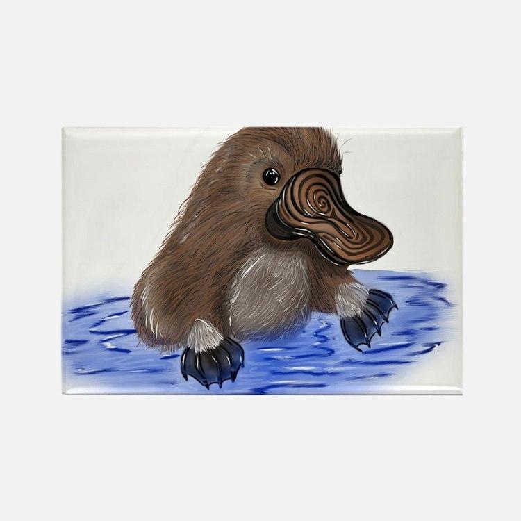 Platypus - ZooWhirlz Rectangle Magnet