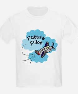 Future Pilot Airplane Cute Boy Baby/Toddler Tee T-