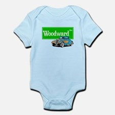 Woodward Blue Hotrod Infant Bodysuit