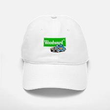 Woodward Blue Hotrod Baseball Baseball Cap