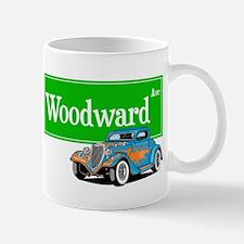 Woodward Blue Hotrod Mug