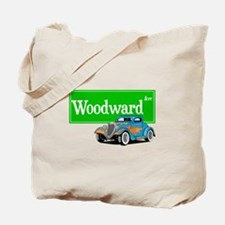 Woodward Blue Hotrod Tote Bag