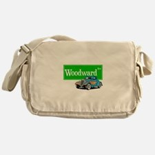 Woodward Blue Hotrod Messenger Bag