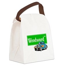 Woodward Blue Hotrod Canvas Lunch Bag