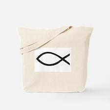 Christian Fish Symbol Tote Bag