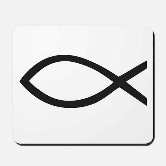 Christian Fish Symbol Mousepad