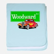 Woodward Red Hotrod baby blanket