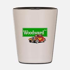 Woodward Red Hotrod Shot Glass