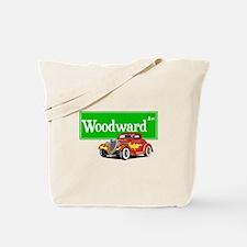 Woodward Red Hotrod Tote Bag