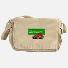 Woodward Red Hotrod Messenger Bag