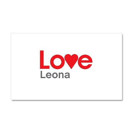 I Love Leona Car Magnet 20 x 12