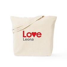 I Love Leona Tote Bag