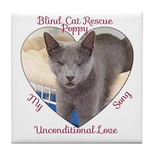 Poppy Unconditional Love Tile Coaster