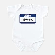 Hello: Byron Infant Bodysuit