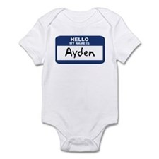 Hello: Ayden Infant Bodysuit