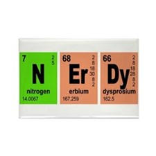 NErDy Elements Geeky Rectangle Magnet