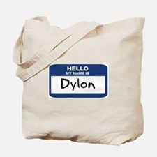 Hello: Dylon Tote Bag