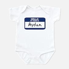 Hello: Aydan Infant Bodysuit