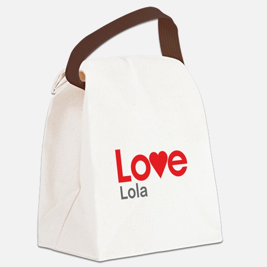 I Love Lola Canvas Lunch Bag