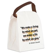 Churchill What We Give Canvas Lunch Bag