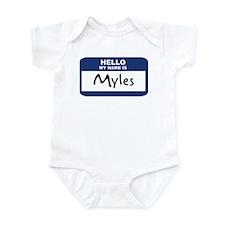Hello: Myles Infant Bodysuit