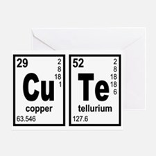 Cute Elements Geeky Greeting Card