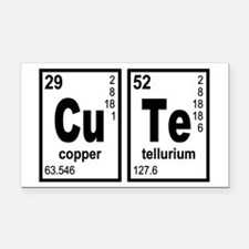 Cute Elements Geeky Rectangle Car Magnet