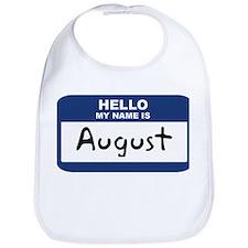 Hello: August Bib