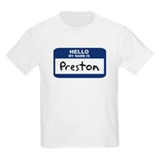 Hello: Preston Kids T-Shirt