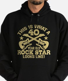 40 Year Old Rock Star Hoodie (dark)