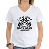 40 rocks Womens V-Neck T-shirts