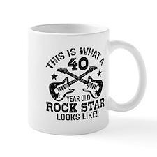 40 Year Old Rock Star Mug