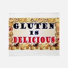 Gluten is Delicious Throw Blanket