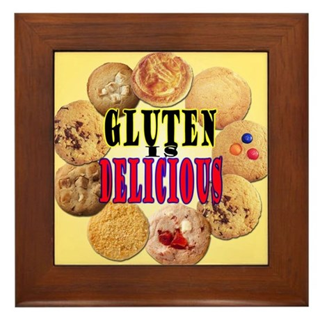 Gluten is Delicious Framed Tile
