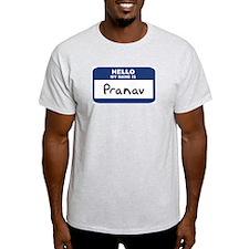 Hello: Pranav Ash Grey T-Shirt