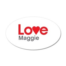 I Love Maggie Wall Decal