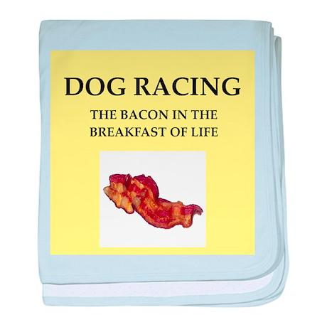 dog racing baby blanket